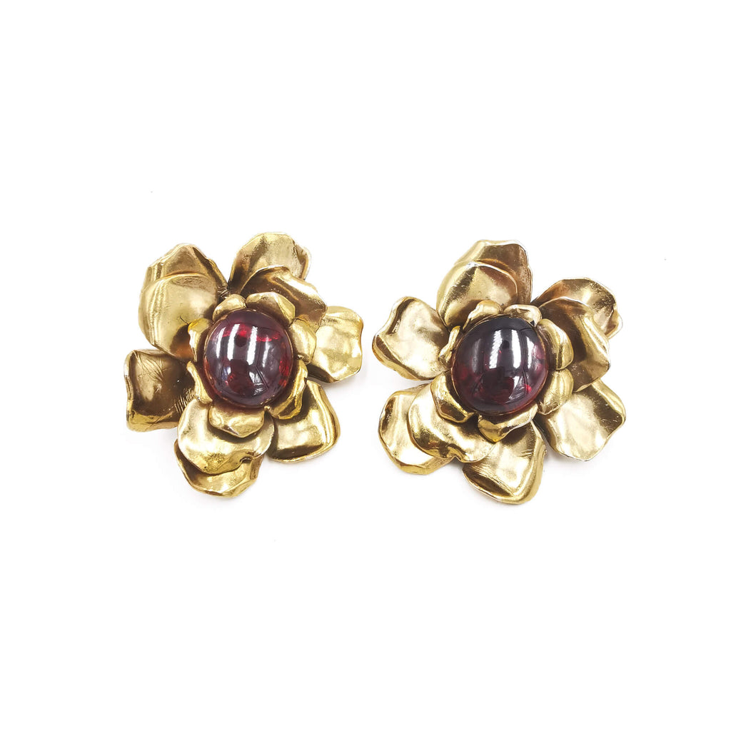 YVSL Clip Earrings - Bona Tondinelli Bijoux