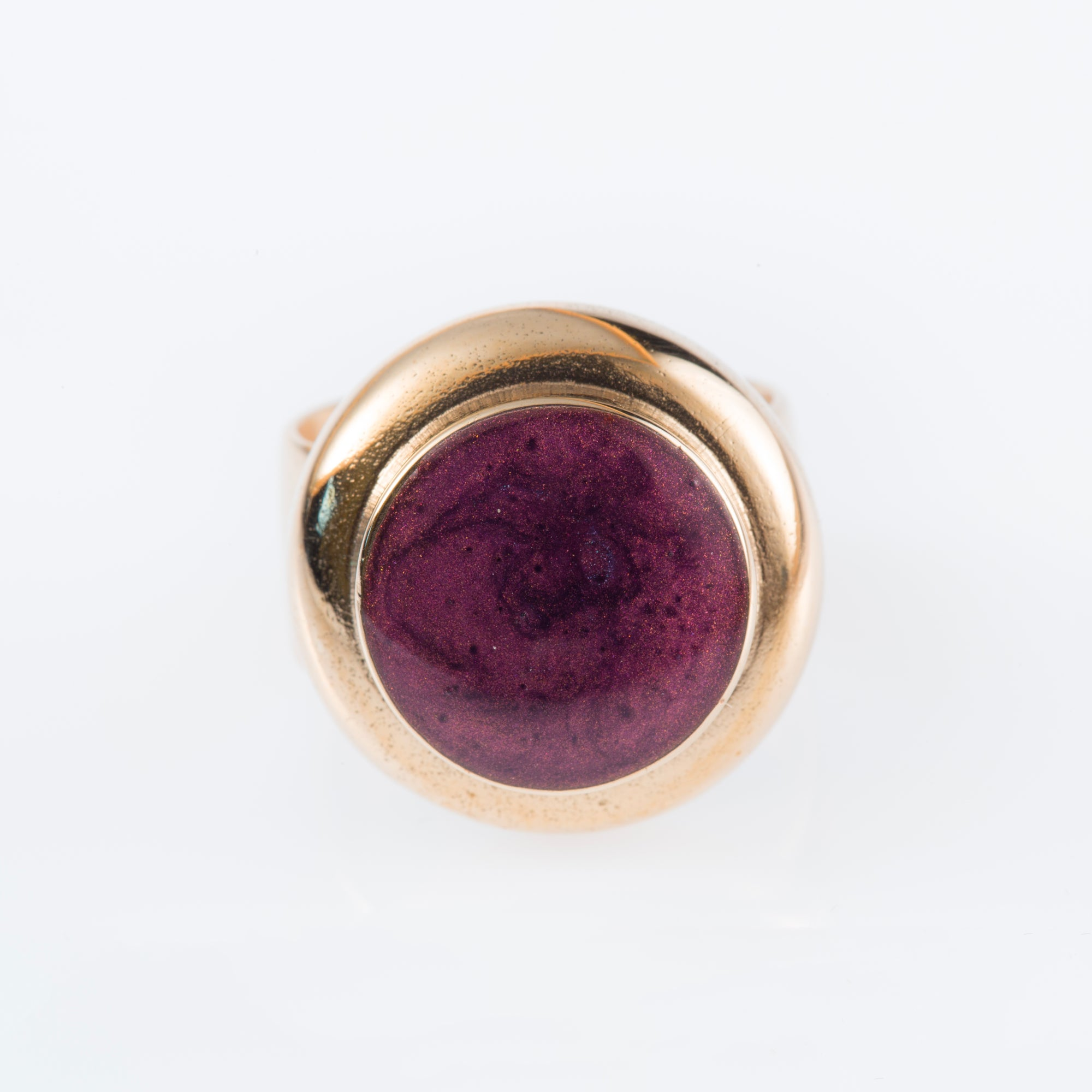 Cocktail Ring With Plume Enamel - Bona Tondinelli Bijoux