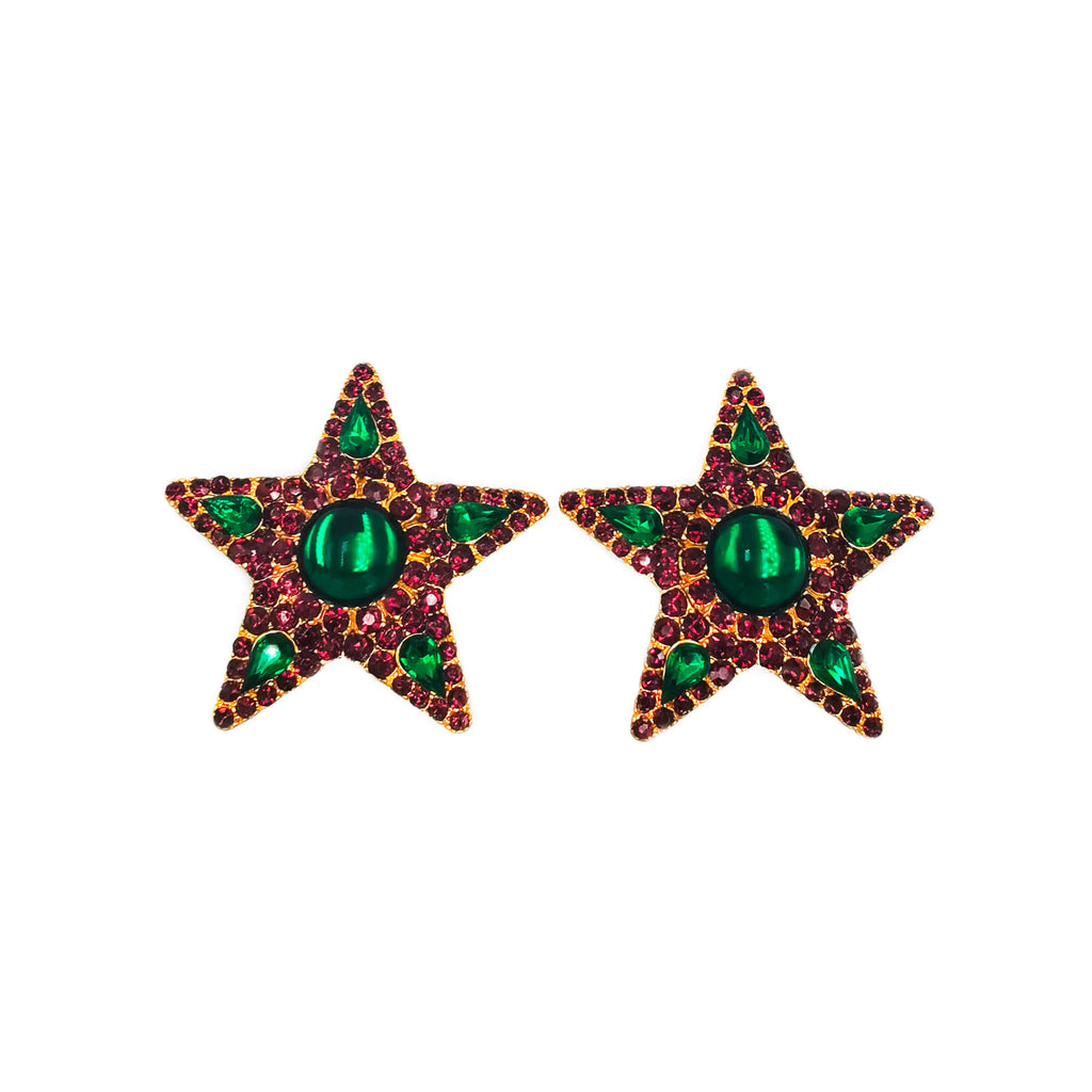 Yves Saint Laurent Star Clip Earrings - Bona Tondinelli Bijoux