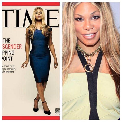 Laverne Cox Of Orange Is The New Black in T. Victoria jewelry