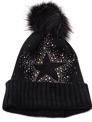 Black Star Beanie Hat