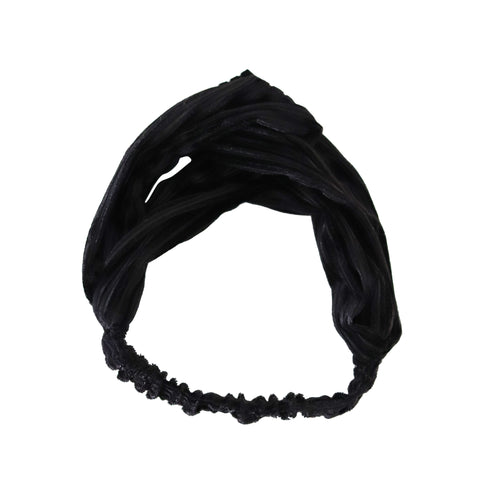 Black velvet stretch headband