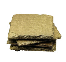 Load image into Gallery viewer, Gold Glitter Slate Coasters Set Of 4 - T. Victoria