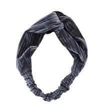 Load image into Gallery viewer, grey velvet twist headband