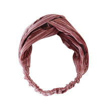 Load image into Gallery viewer, Stretch ribbed velvet knot headband