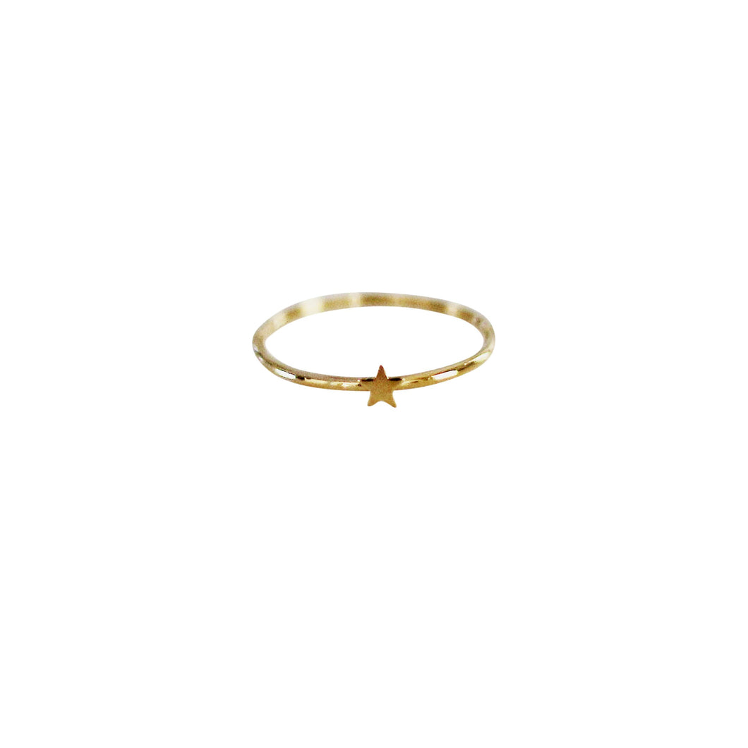 tiny star gold filled ring