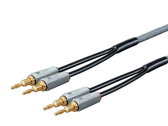 Cable Parlante Banana Monolith 14AWG Oxygen Free Copper - 2 cables de 3 mts - PrimeAudio