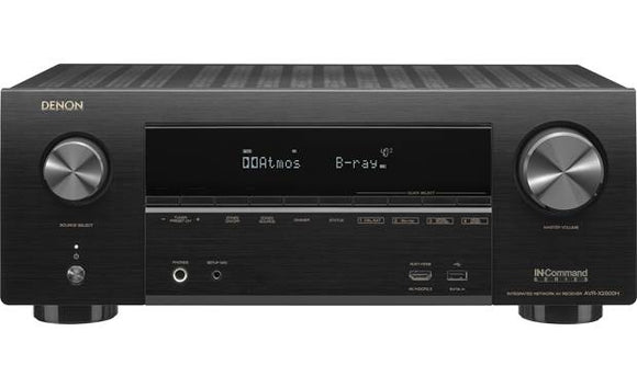 Denon AVR-X2600 Receiver A/V Audio y Video 4k de 7.2 canales con Wi-Fi®, Bluetooth®, Apple® AirPlay® 2 y Amazon Alexa compatibles - PrimeAudio
