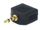 Adaptador 3.5mm macho a 2 de 3.5mm hembra - PrimeAudio
