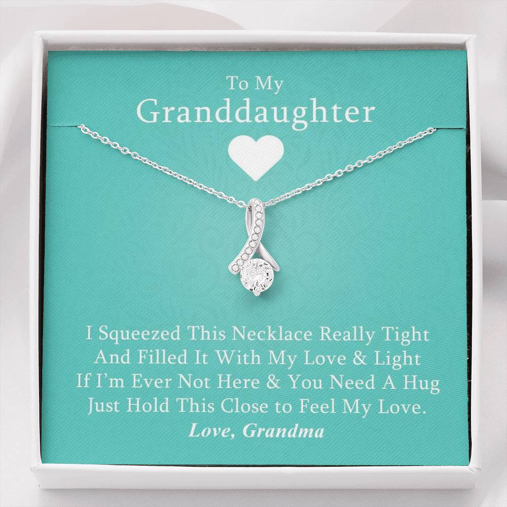 Forever Love Necklace gift for family member Remember A Loved One Necklace Round With White On Silver Missing You For Widow
