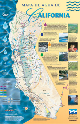 California Water Map, Spanish
