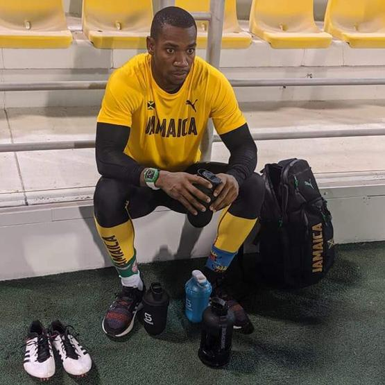 Jamaica player with ShakeSphere Bottles