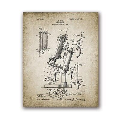 Affiche Vintage Microscope - 13 x 18 cm