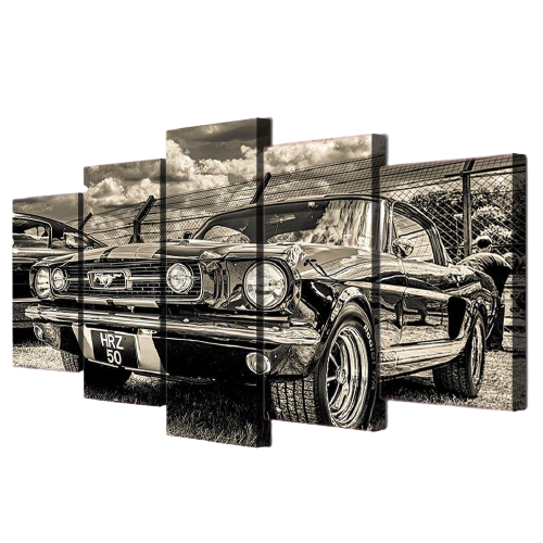 Tableau Vintage Ford Mustang - 20 x 35 45 55 cm