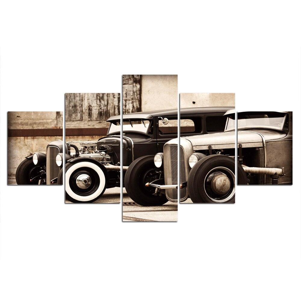 Tableau Vintage Hot Rod - 10x15 10x20 10x25cm