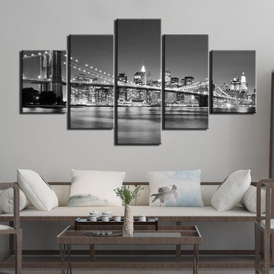 Tableau Vintage Pont de Brooklyn