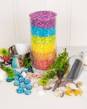 Load image into Gallery viewer, Under the Sea Rainbow Rice Sensory Bin
