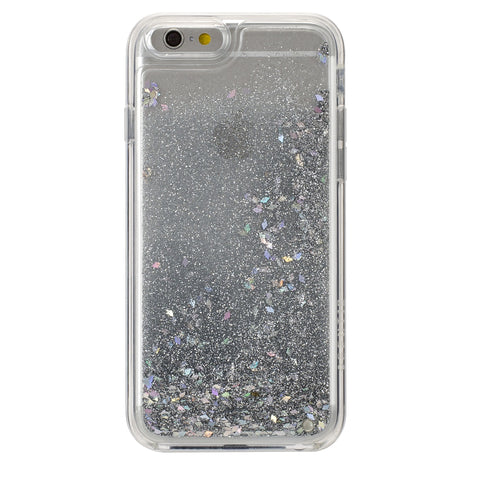 iPhone 6/6s GlitterShield- Silver Glitter/ Geometric Shapes