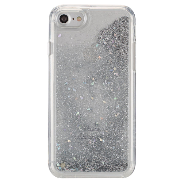iPhone 7 GlitterShield - Silver Glitter/Geometric Shapes
