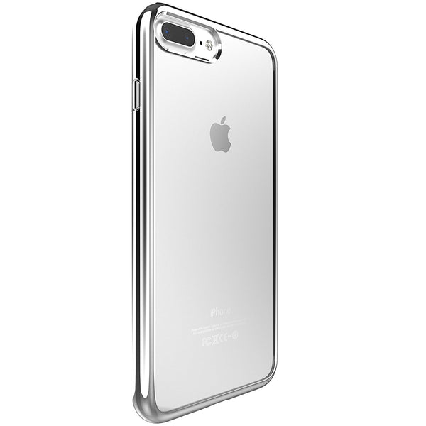 iPhone 7/8 Plus Flexshield - Metallic Silver Edge