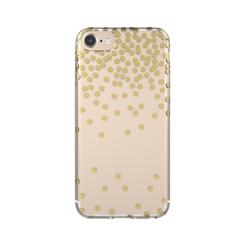 iPhone 6/7/8 FlexShield - Clear Gold Confetti