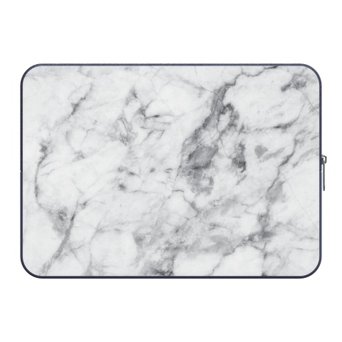 "Macbook 11"" Laptop Sleeve White Marble"