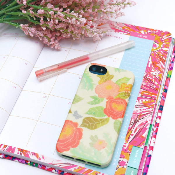 iPhone SE/5s FlexShield - Pastel Flowers