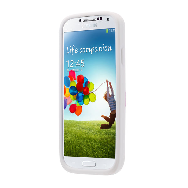 Case - Galaxy S4 Vest - White/Pink