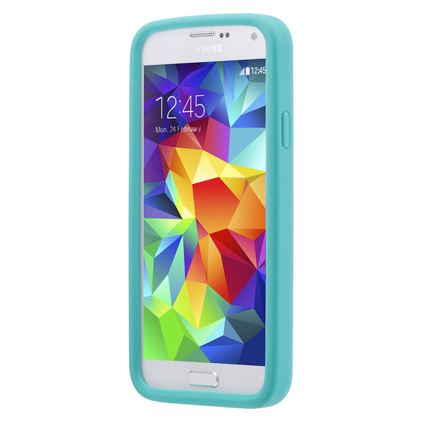 Case - Galaxy S5 Vest - Turquoise/White