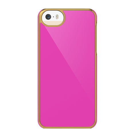 Case - IPhone 5/5s Inlay - Pink/Gold Rims