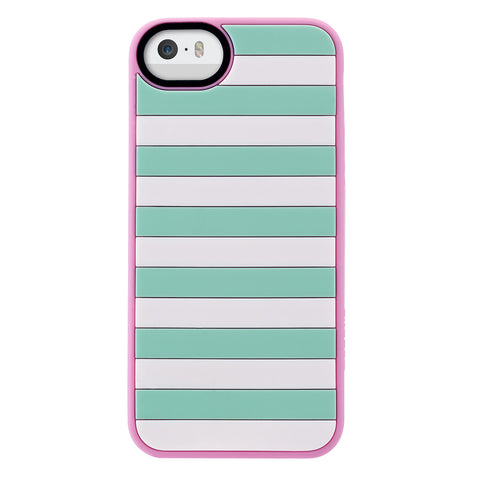 Case - IPhone 5/5s Vest - Mint/Pink