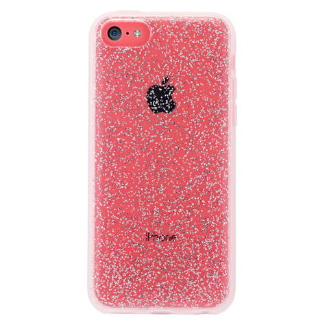 Case - IPhone 5c ShockSlim - Silver Glitter