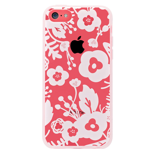 Case - IPhone 5c ShockSlim - White Flowers