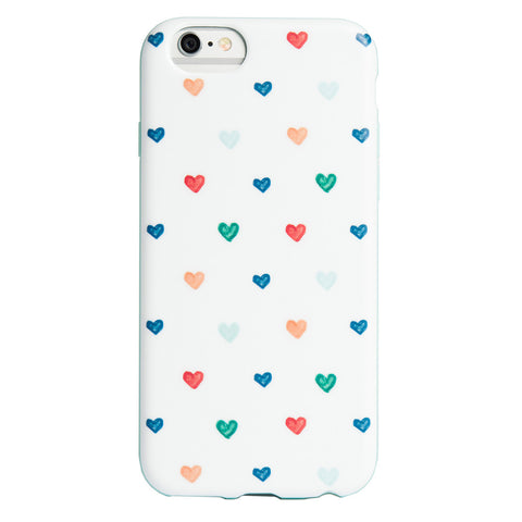 Case - IPhone 6/6s FlexShield - Hand Drawn Hearts