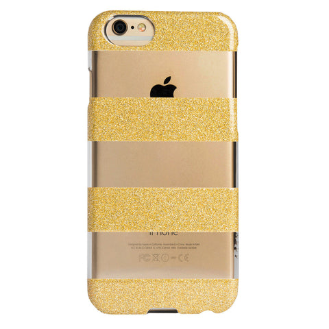 Case - IPhone 6/6s SlimShield - Clear Glitter Stripes
