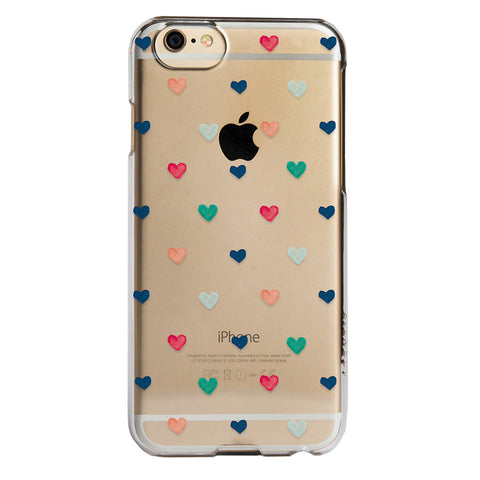 Case - IPhone 6/6s SlimShield - Clear Hand Drawn Hearts