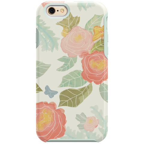 iPhone 6/6s Shock - Pastel Flower