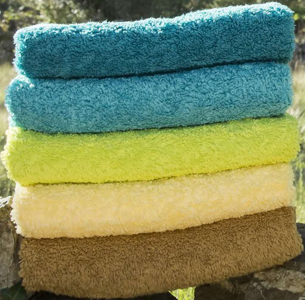 Abyss Super Pile stack of towels