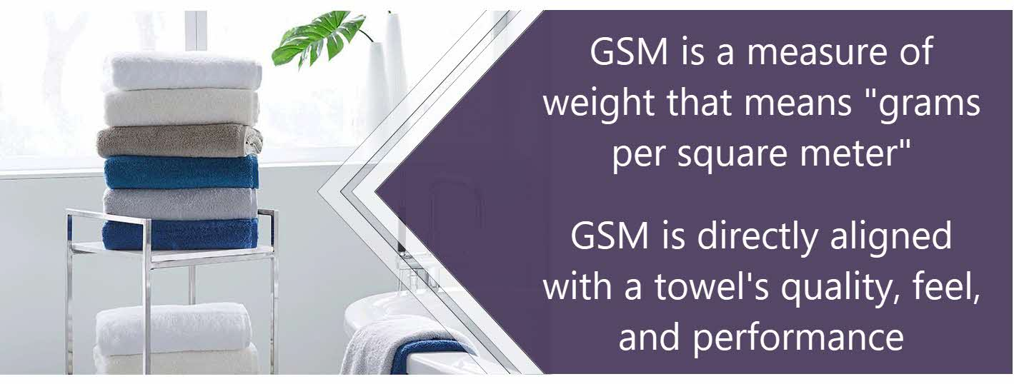 GSM is directly aligned  with a towel's quality, feel, and performance