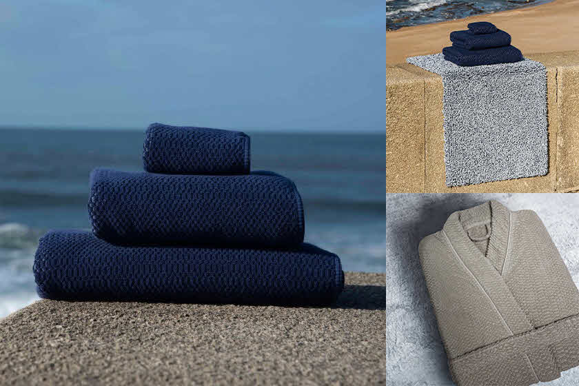 Graccioza's Clean Ocean Line of Bath Towels, Rugs and Robes