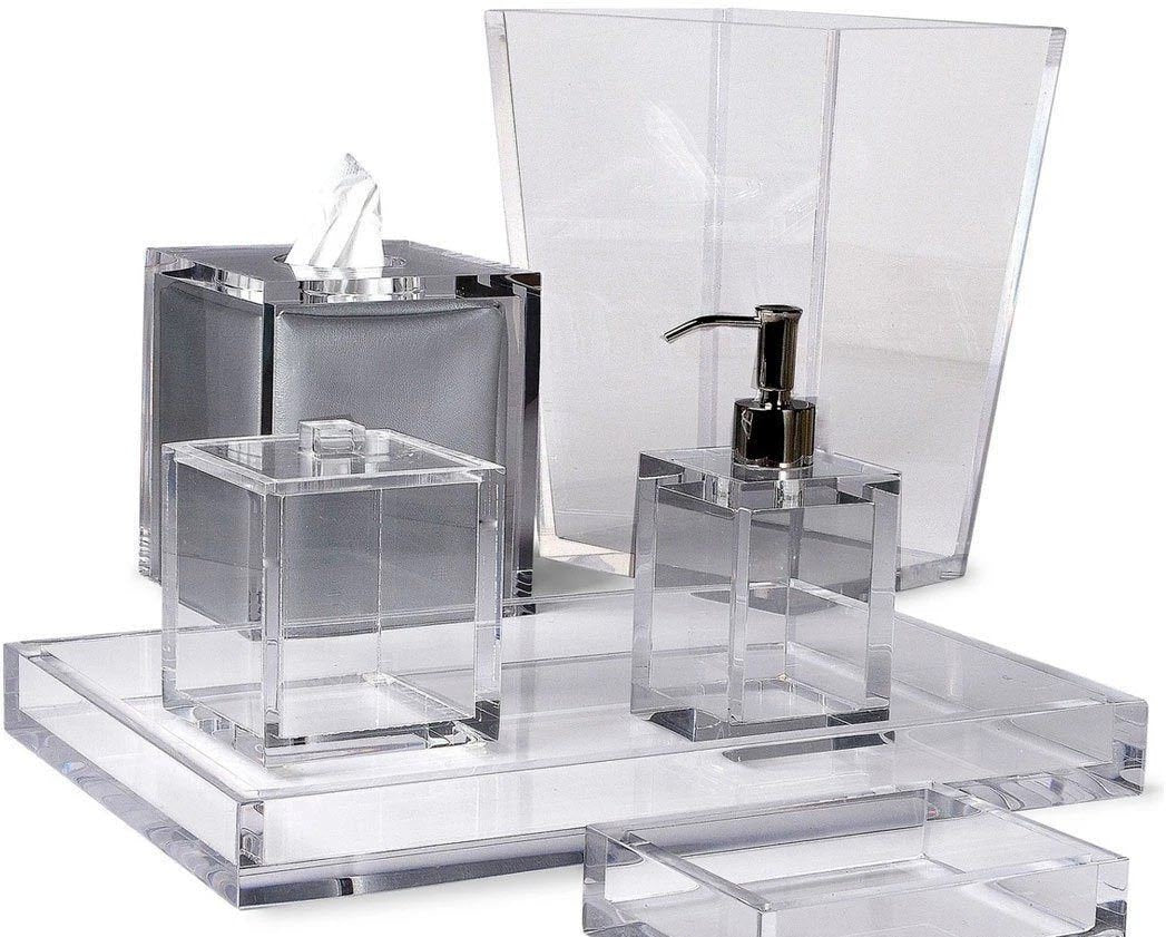 Mike and Ally Ice Lucite Bath Accessories