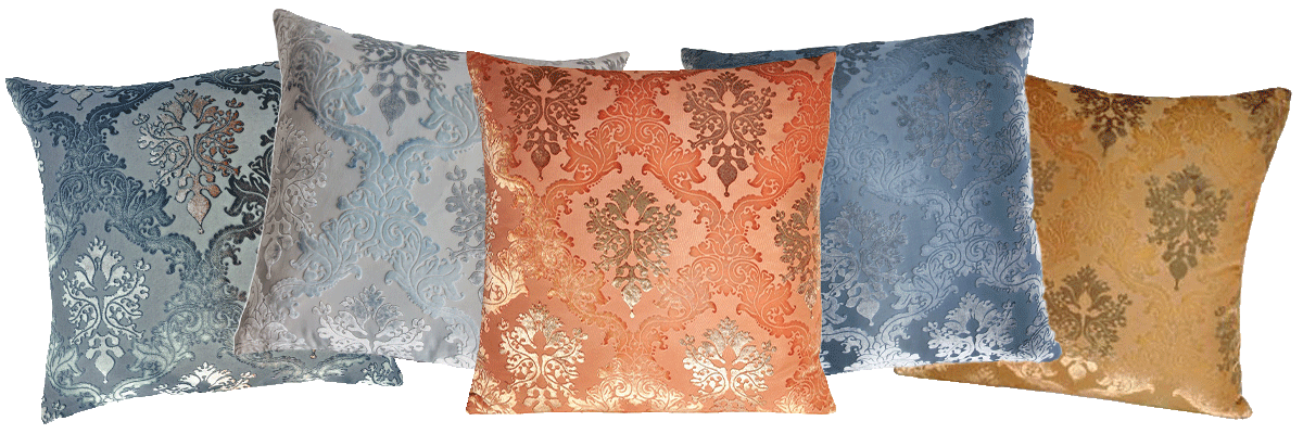 The Kevin O'Brien Studio Brocade Silk Velvet Decorative Pillows