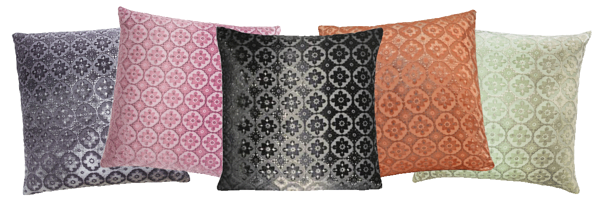 The Kevin O'Brien Studio Small Moroccan Silk Velvet Decorative Pillows