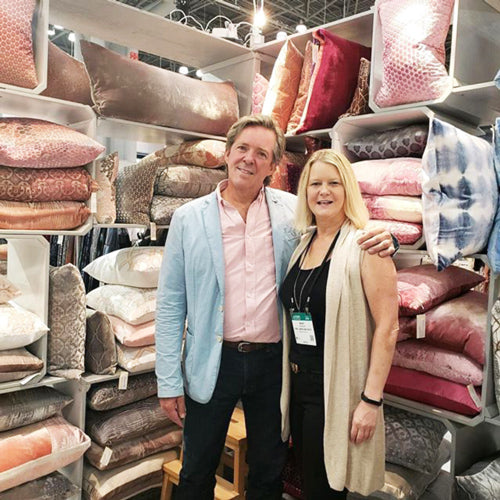 Kevin O'Brien and Mary Babinski among his collection at NYNow in 2017.
