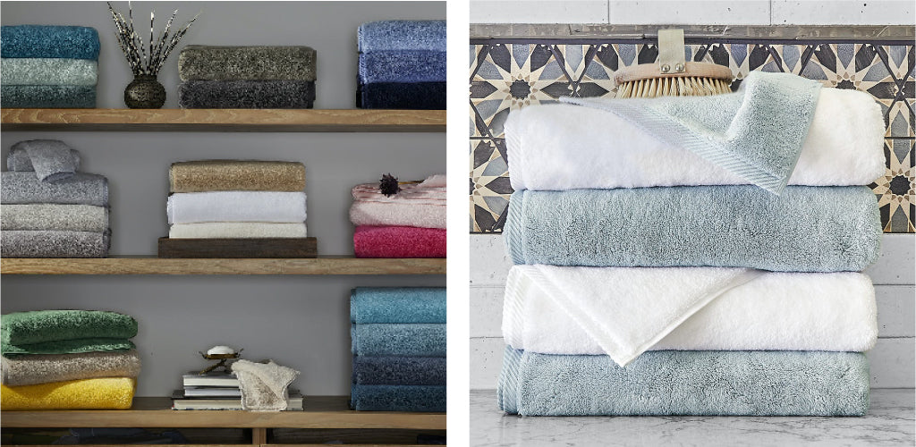 It's always the right time to refresh mom's towels with new Matouk Milagro bath towels
