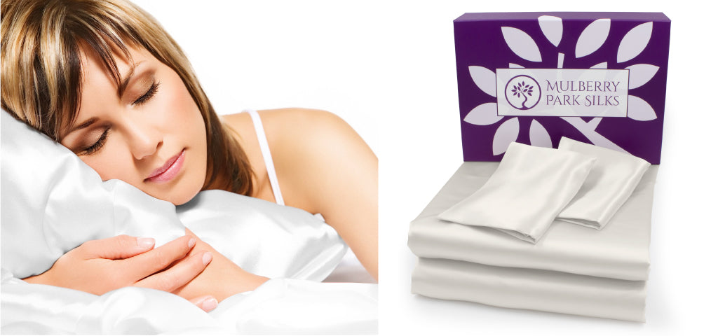 Treat mom a set of Mulberry Park silk mulberry sheets