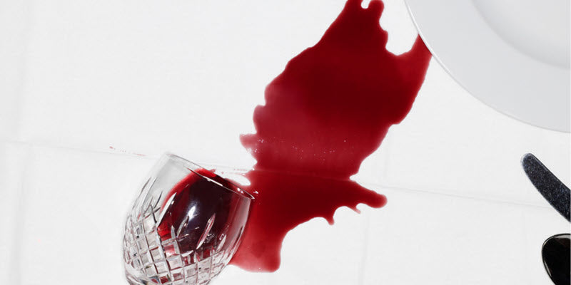 Spilled Wine Luxury Table Cloth Care Guide