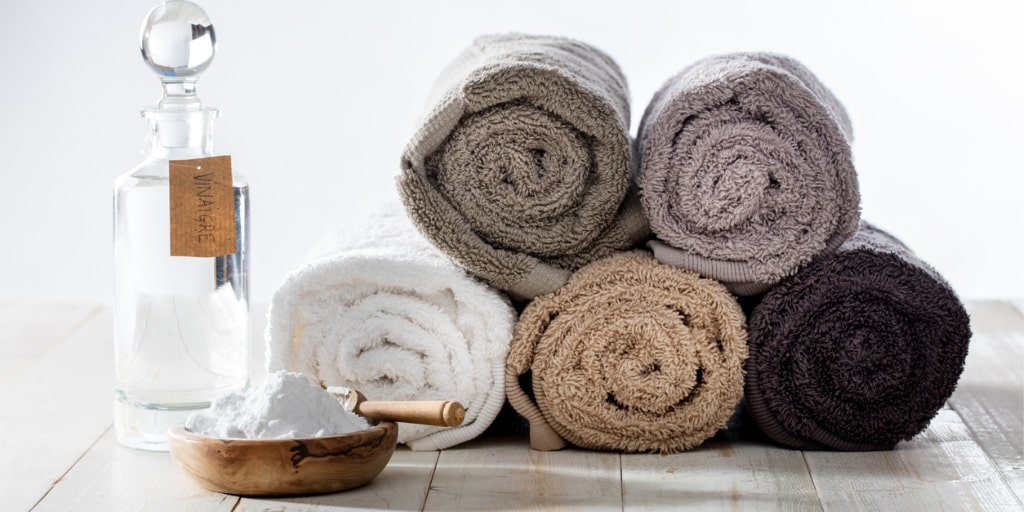 Break-In your Bath towels with vinegar and baking soda