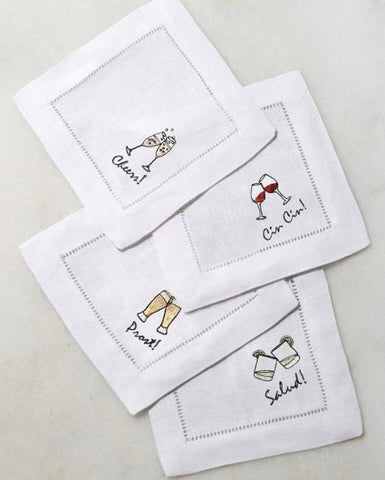 Sferra Embroidered Cocktail Napkins