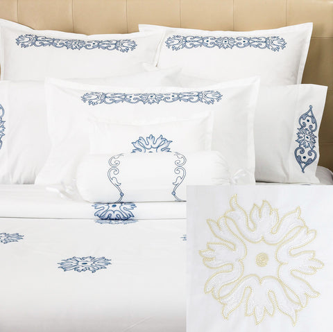 Peter Reed Chain Stitch Bedding - White/Ivory